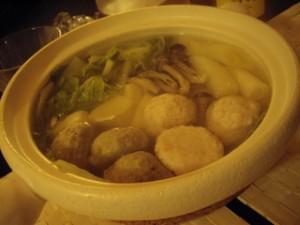 いわしとえびの団子鍋