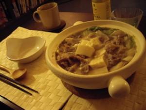 ごま味噌牛乳鍋