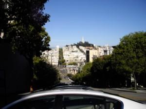 ロンバードストリートからの眺め