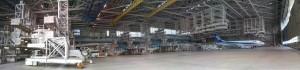 ANAの機体整備場